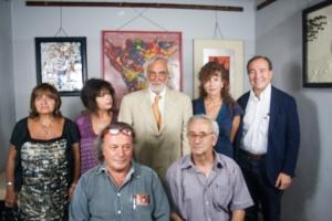 gabriele zelli con i membri dell'associazione antares