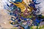astrazione di forme liquide: immagine astratta fluida colorata con forme astratte fluide che si dissolvono