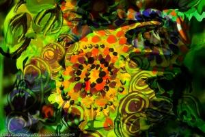 movimento di forme verdi astratte e forme fluide colorate con dominante di colore verde